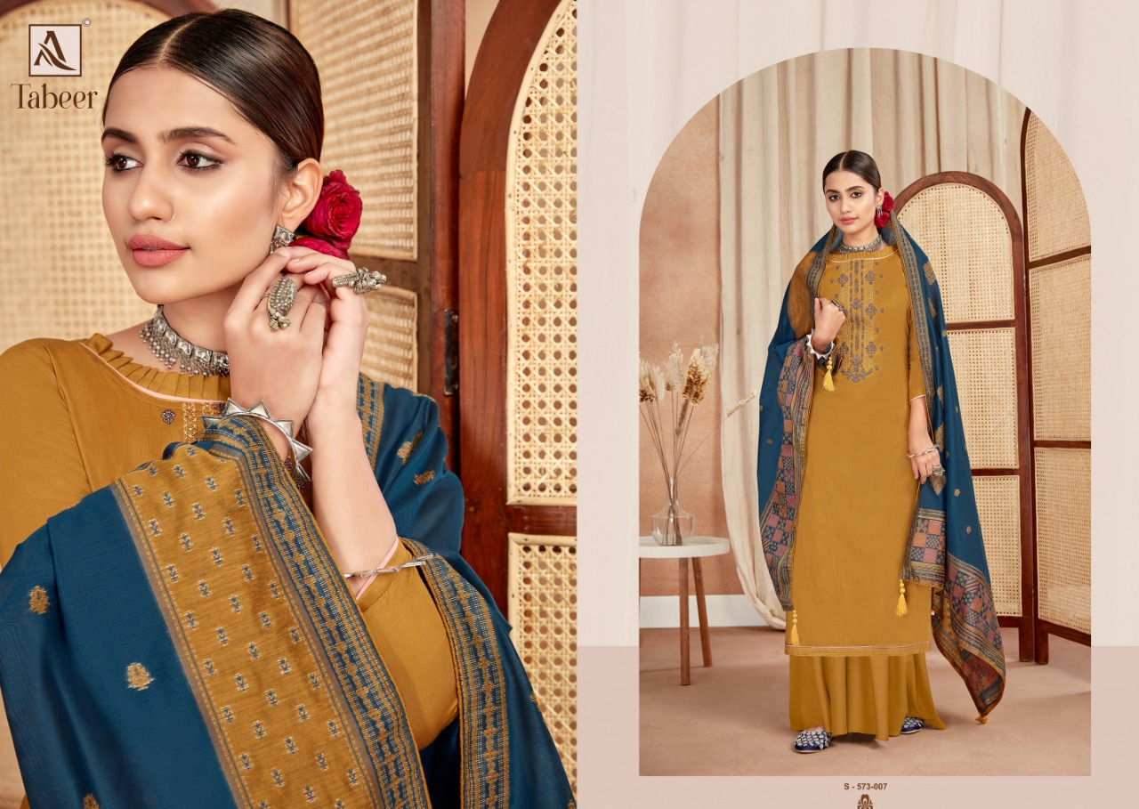 Alok Suits Tabeer Pure Jam Cotton With Fancy Embroidery With Swarovski Diamond Work Dress Material At Wholesale Rate