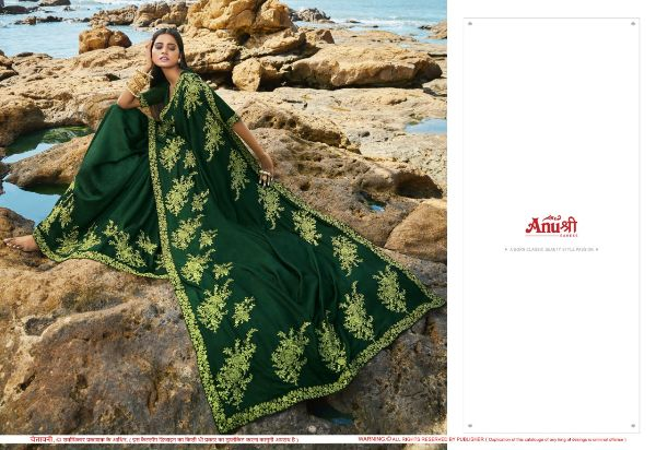 Anushree Half Girlfriend Satin Georgette With Work Sarees Collection At Wholesale Rate