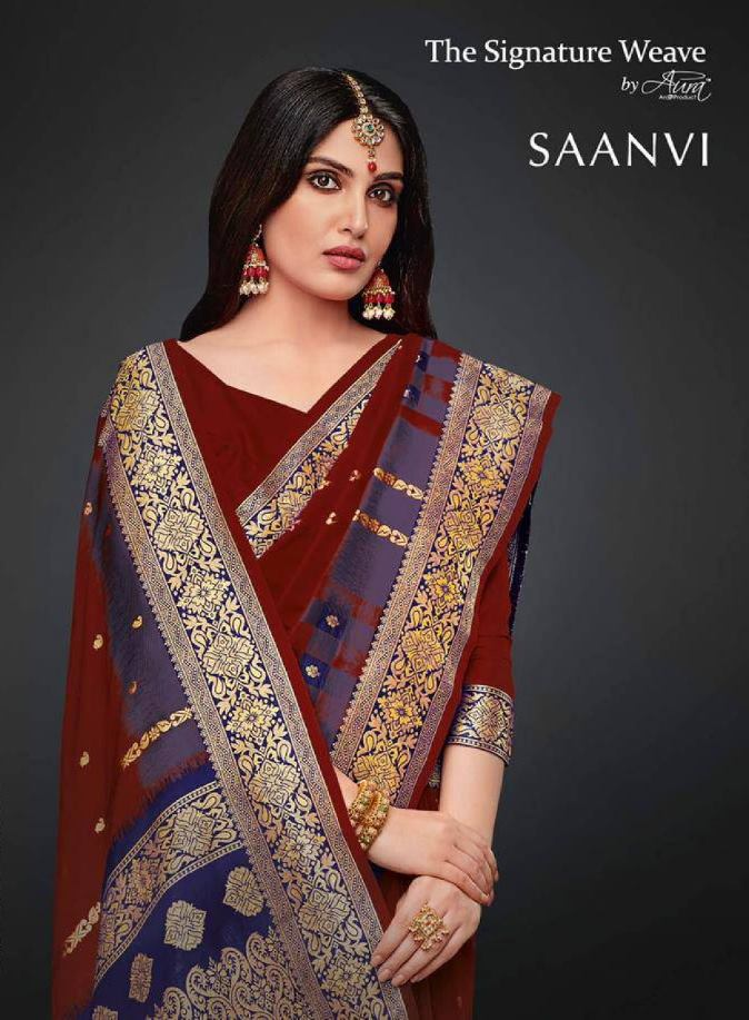 Aura Saanvi Soft Silk Party Wear Sarees Collection At Wholesale Rate