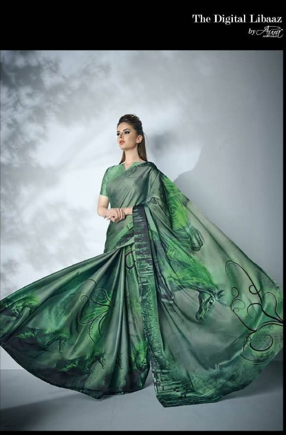 Aura Ziva Georgette With Printed Regular Wear Sarees Collection At Wholesale Rate