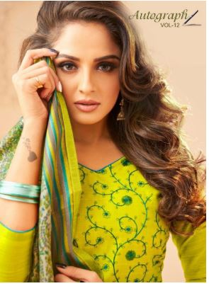 Kapil Trendz Autograph Vol 12 Designer Fancy Slub With Embroidery Work Causal Dress Material Collection