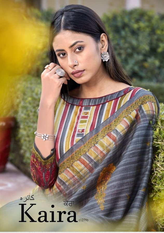 Bipson Fashion Kaira 1279 Cotton Satin Print With Work Dress Material At Wholesale Rate