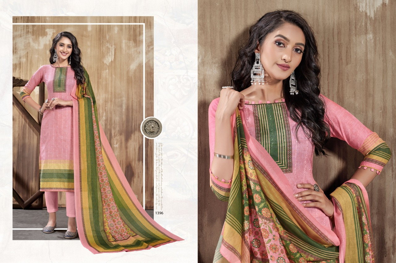 Bipson Fashion Nazakat Vol 1 Cotton Lawn Digital Print With Sequence Embroidery Work Dress Material At Wholesale Rate
