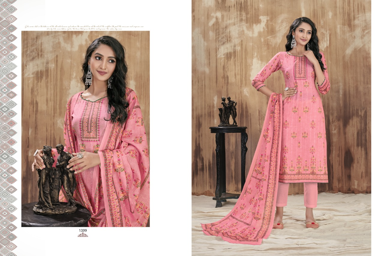 Bipson Fashion Nazakat Vol 2 Cotton Lawn Digital Print With Sequence Embroidery Work Dress Material At Wholesale Rate