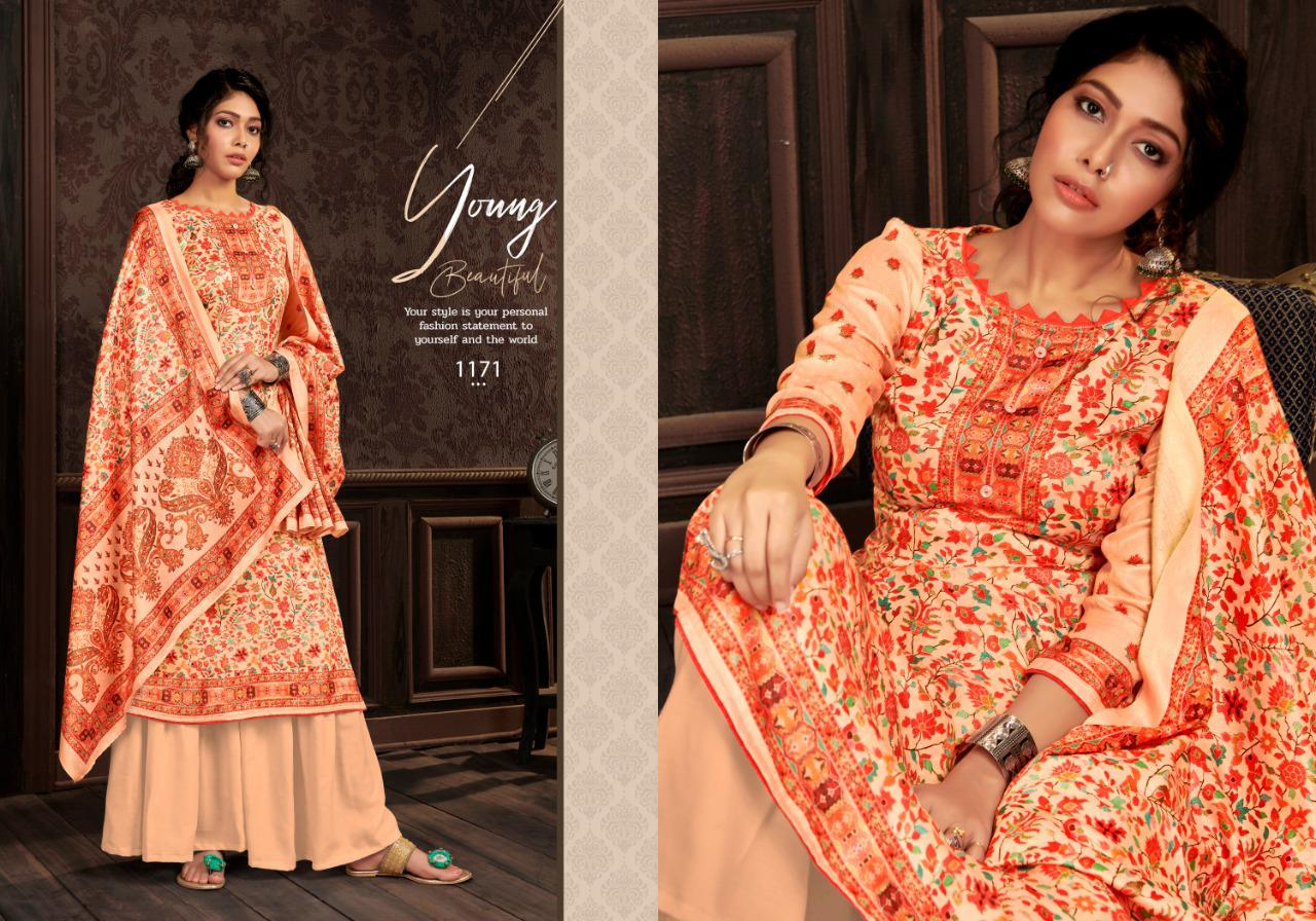 Bipson Kashmiri Queen Vol 7 Digital Printed Woolen Pashmina Dress Material Collection At Wholesale Rate