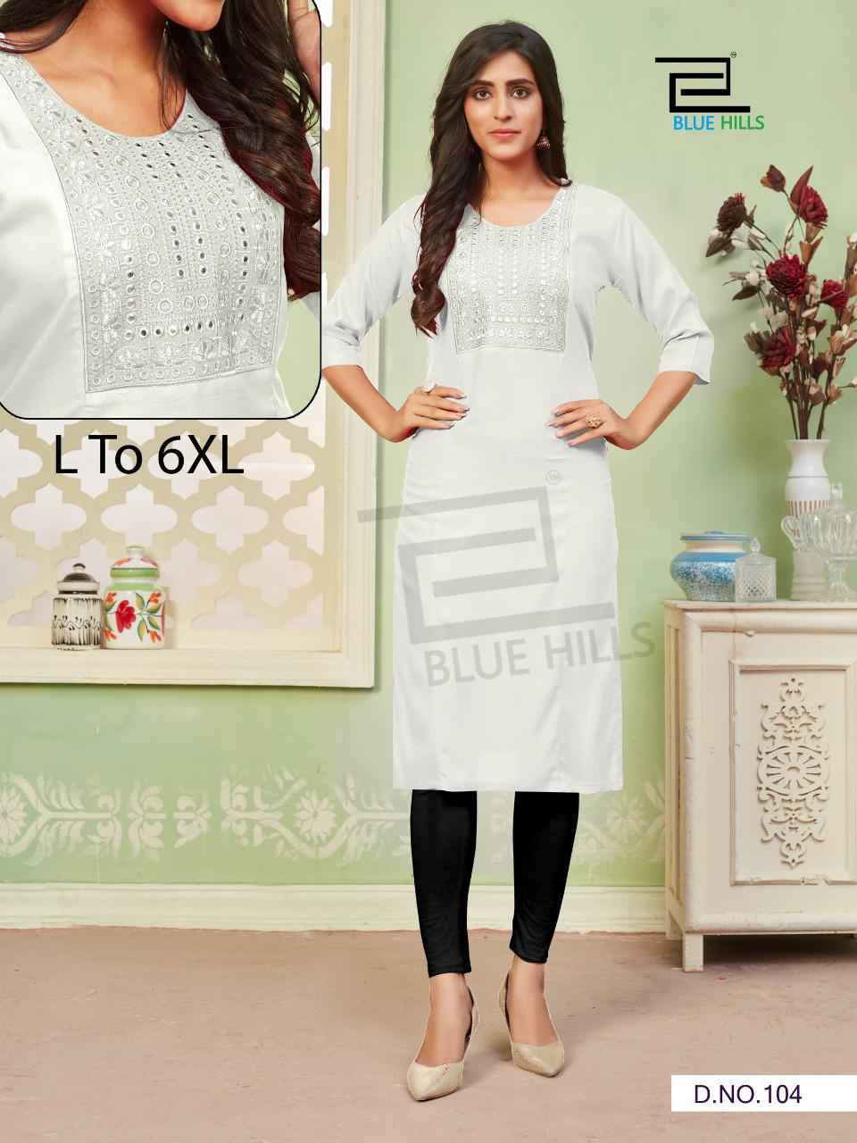 Blue Hills Colorbar Vol 3 Rayon With Embroidery Hand Work Regular Wear Kurtis Collection