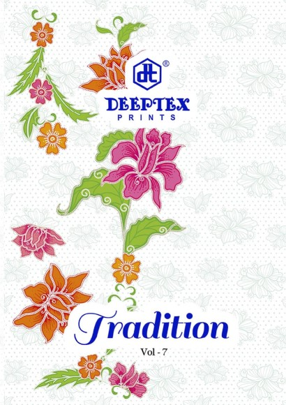 Deeptex Prints Tradition Vol 7 Printed Cotton Dress Material At Wholesale Rate
