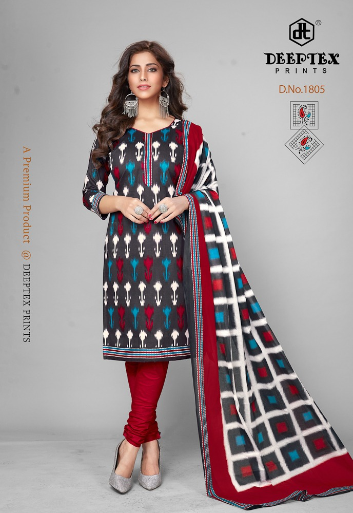 Deeptex Prints Chief Guest Vol 18 Printed Cotton Dress Material At Wholesale Rate