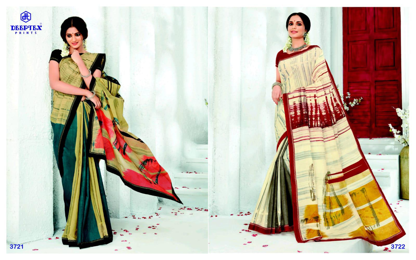 Deeptex Prints Mother India Vol 37 Printed Cotton Regular Wear Sarees Collection At Wholesale Rate