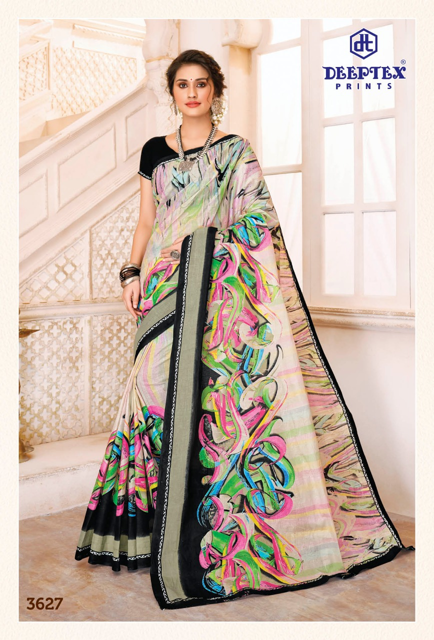 Deeptex Prints Mother India Vol 36 Printed Cotton Sarees Collection At Wholesale Rate