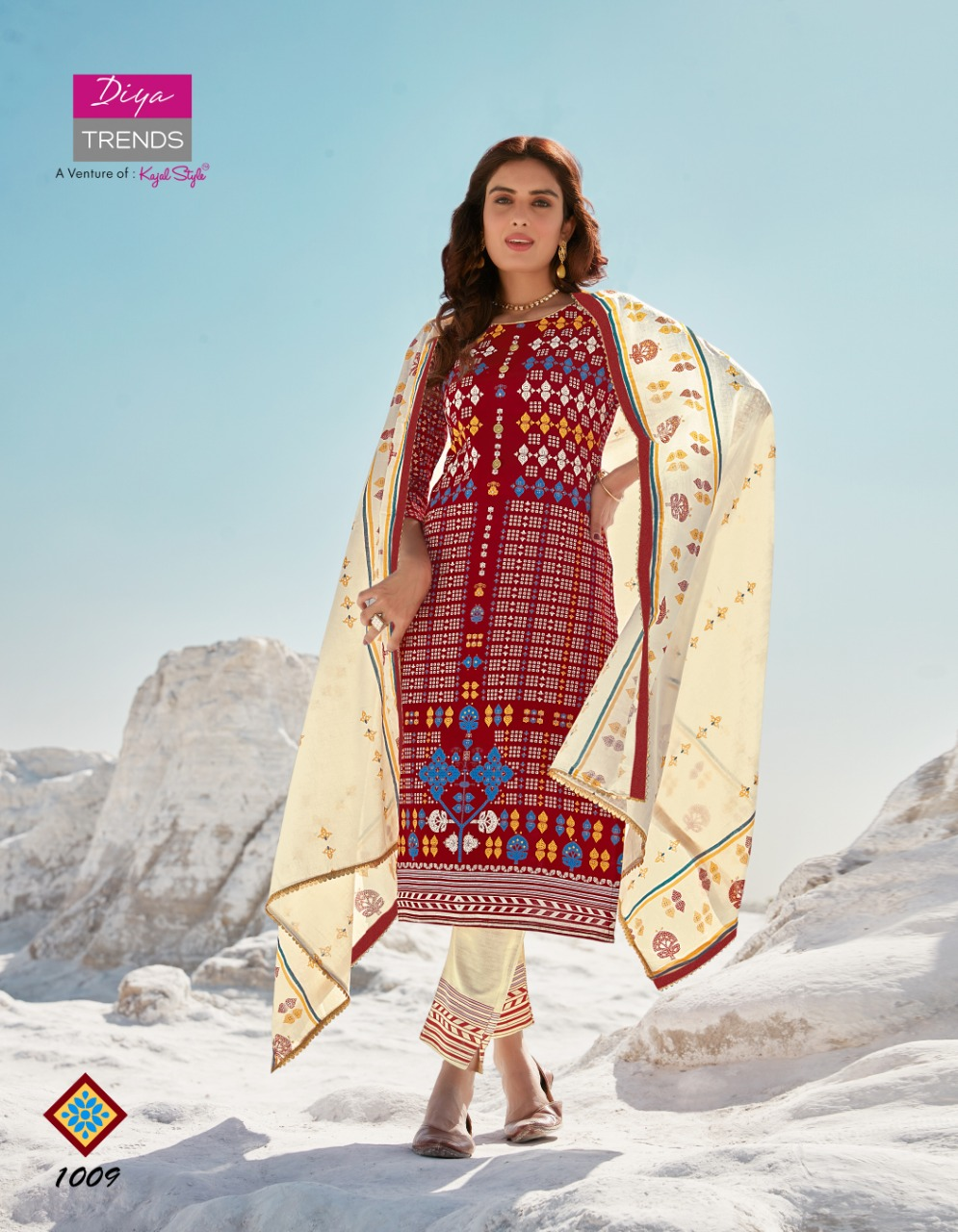 Diya Trends Dupatta House Vol 1 Heavy Rayon With Embroidery Work Kurti With Pant Dupatta Collection At Wholesale Rate