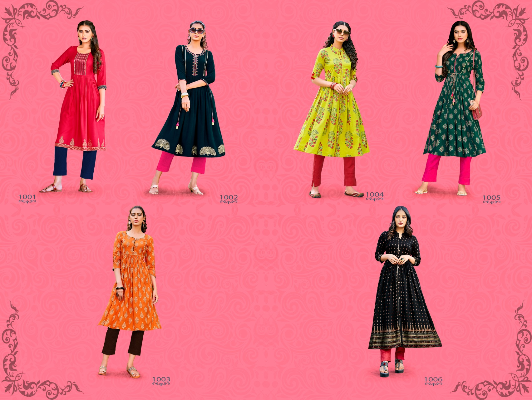 Diya Trends Summer Beauty Vol 1 Rayon Cotton Printed With Embroidery Work Kurtis At Wholesale Rate