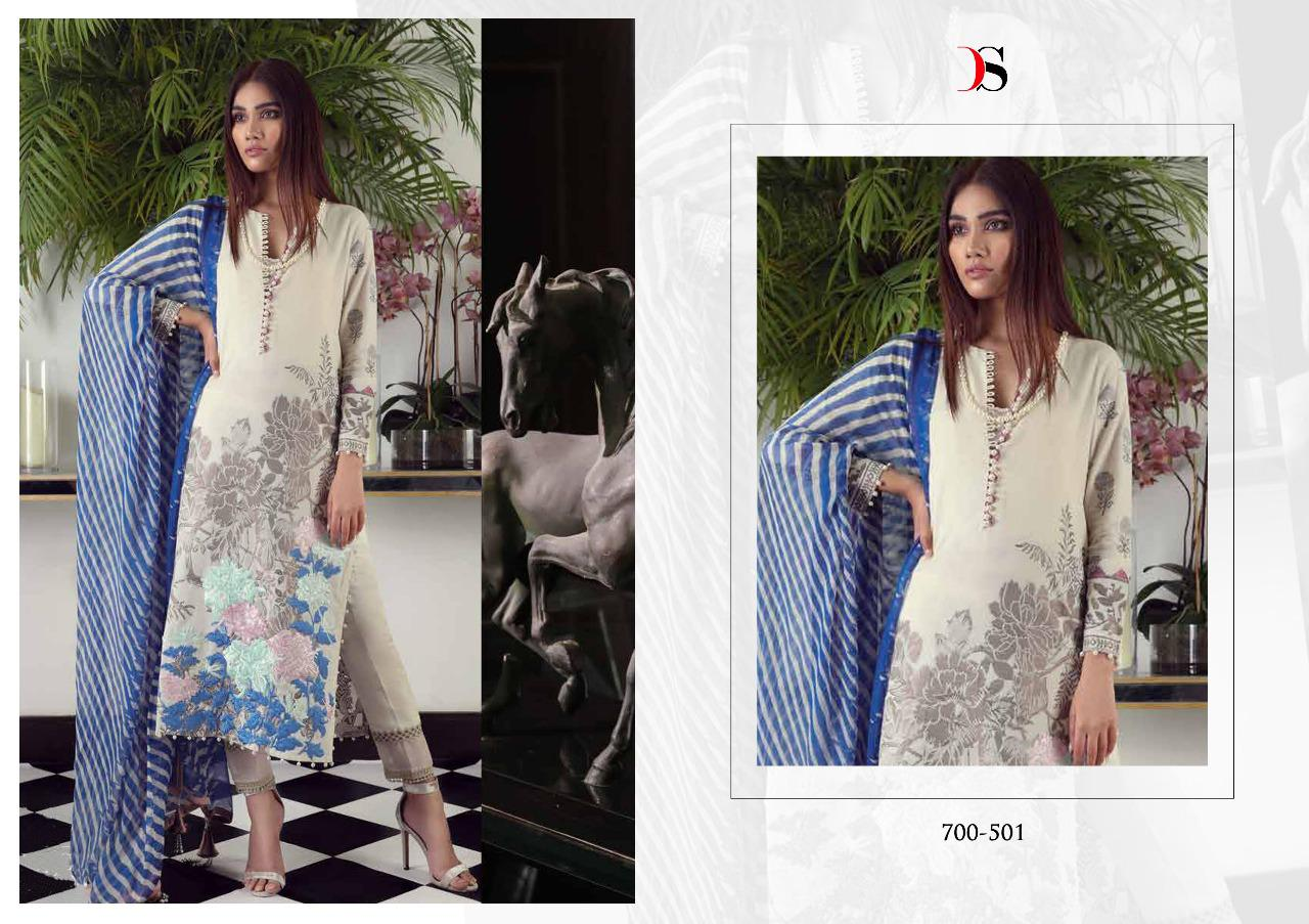 Deepsy Suits Muslin Vol 5 Printed Pure Cotton With Work Pakistani Dress Material At Wholesale Rate