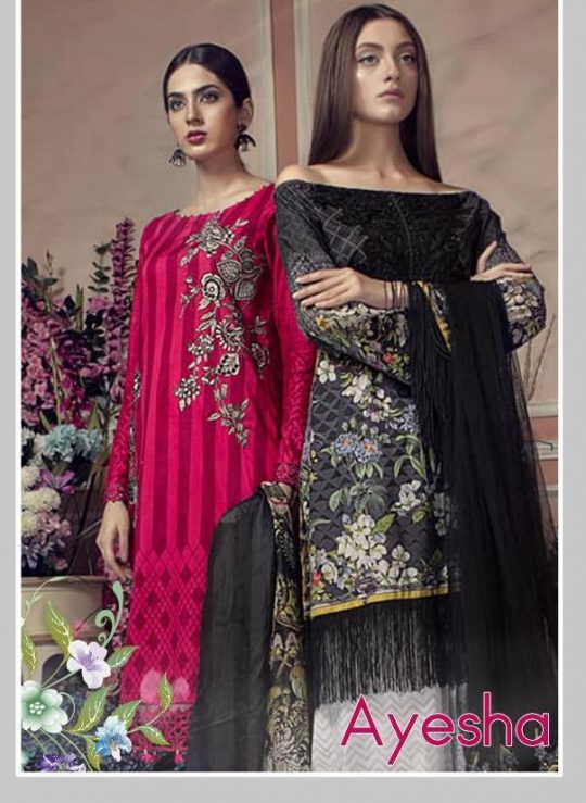 e8368b961b Deepsy Suits Ayesha Printed Pure Cotton with Work Pakistani Suits  Collection at Wholesale Rate