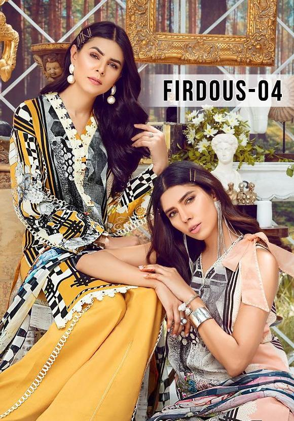 Deepsy Suits Firdous Vol 4 Pure Cotton Printed With Work Casual Dress Material At Wholesale Rate