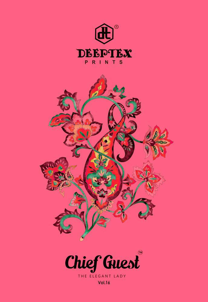 Deeptex Prints Chief Guest Vol 16 Printed Cotton Regular Wear Dress Material At Wholesale Rate