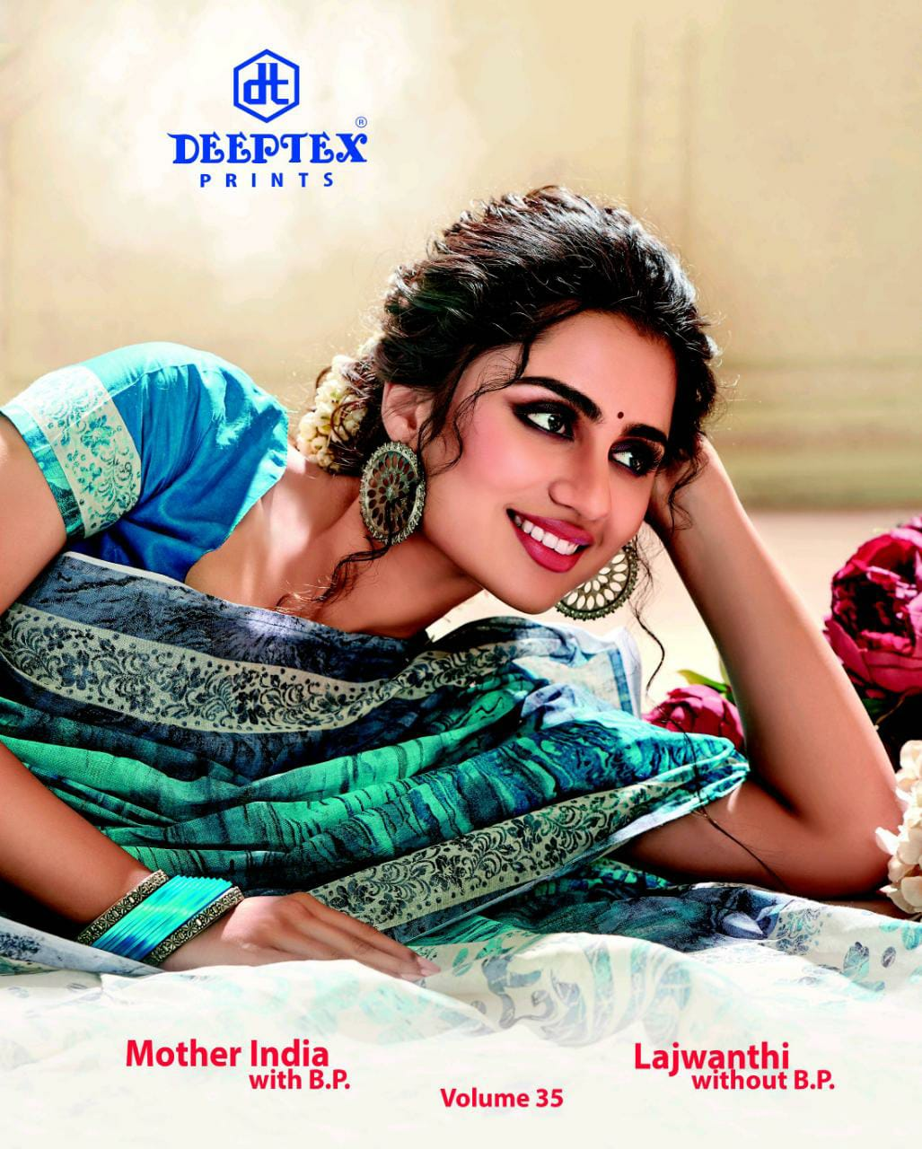 Deeptex Prints Miss India Vol 35 Printed Cotton Regular Wear Sarees Collection At Wholesale Rate
