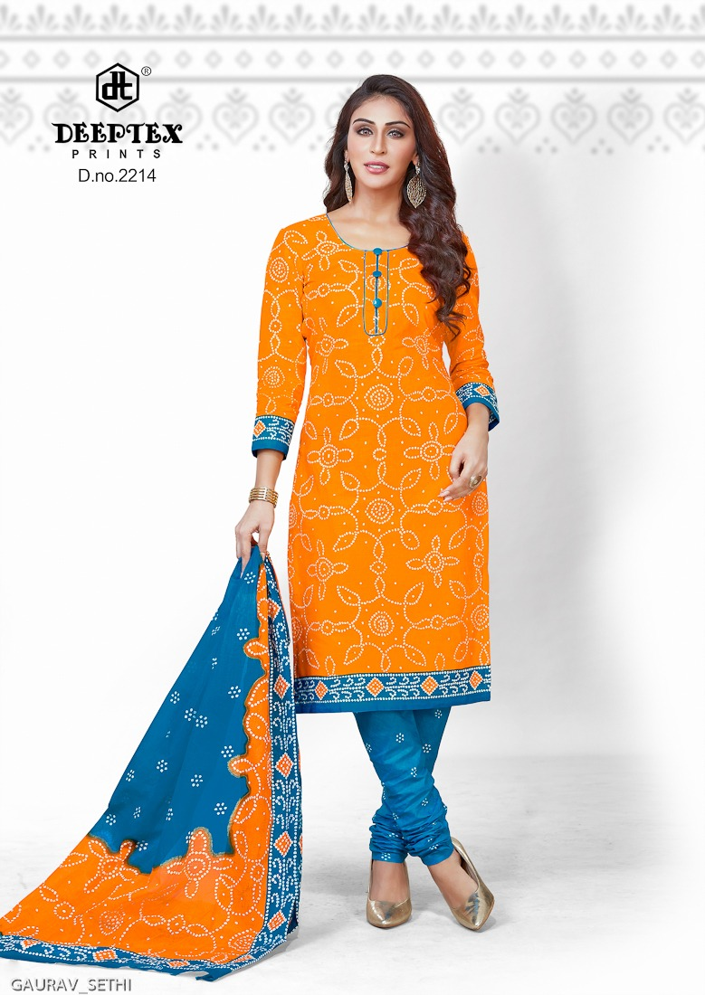 Deeptex Prints Classic Chunaris Vol 22 Printed Cotton Dress Material Collection At Wholesale Rate