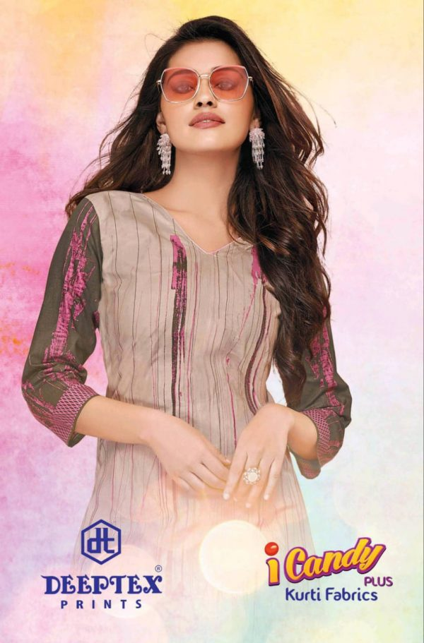 Deeptex Prints I Candy Plus Printed Cotton Readymade Kurtis At Wholesale Rate