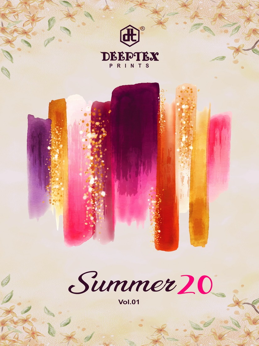 Deeptex Sumer 2020  Vol 1 Pure Cotton Printed Regular Wear Sarees Collection At Wholesale Rate