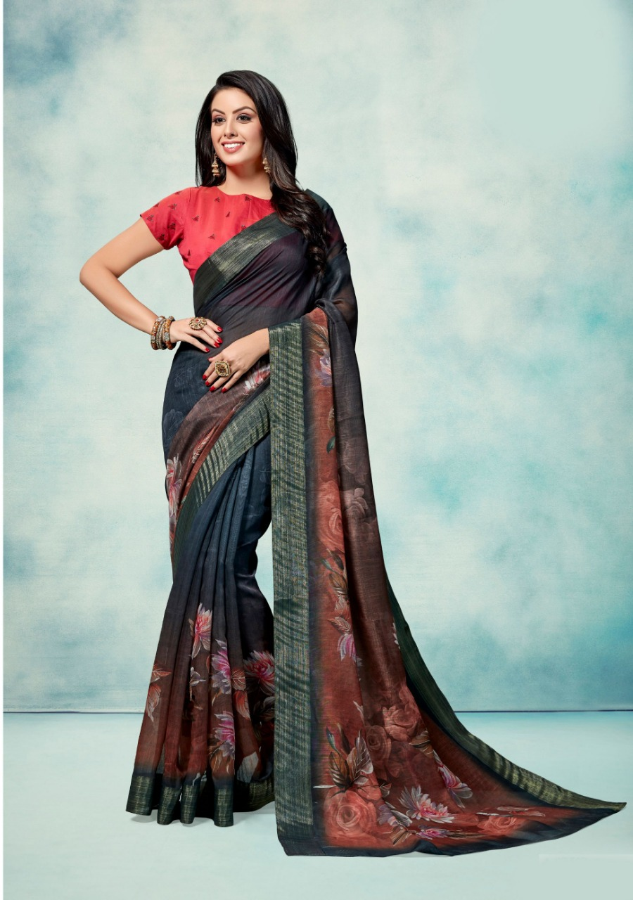 Latest Designer Digital Printed Chanderi Silk Sarees Collection At Wholesale Rate