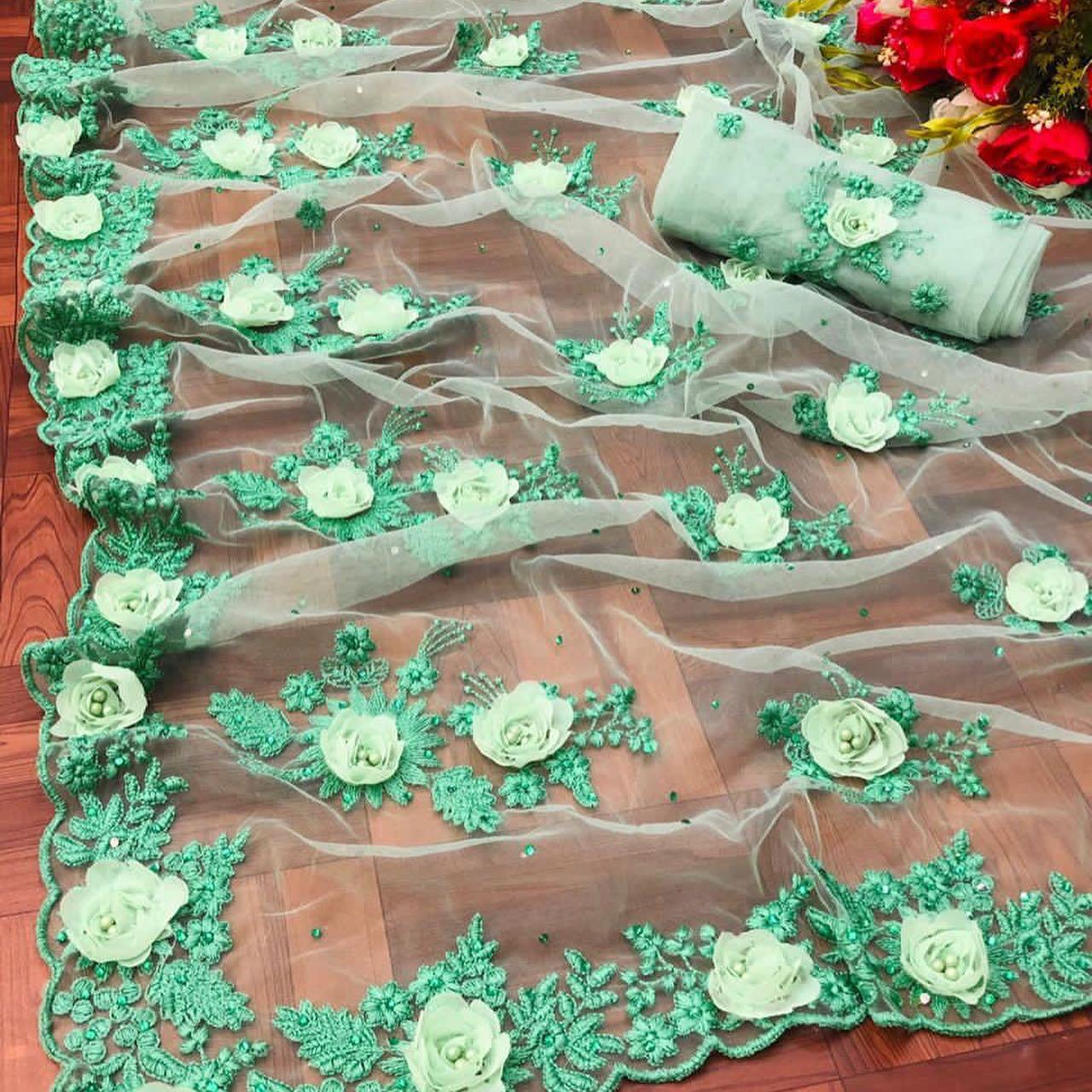 Et Nairobi Soft Net With Fancy Ribbon Work Party Wear Boutique Sarees Collection