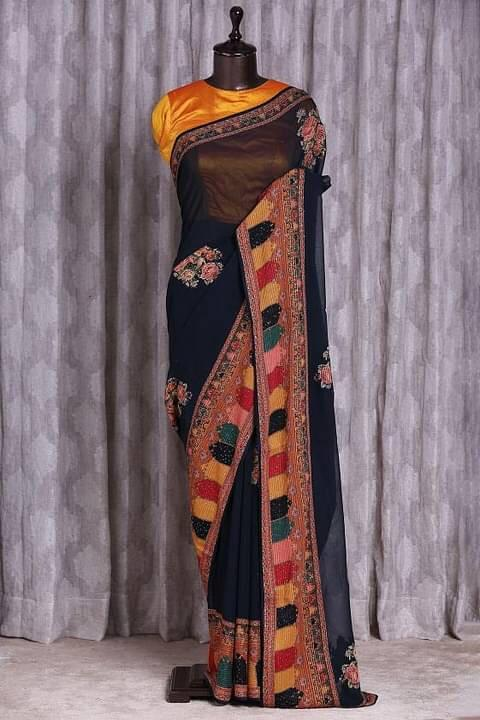 Et Rainbow Heavy Georgette With Sequence Work Boutique Sarees Collection At Wholesale Rate