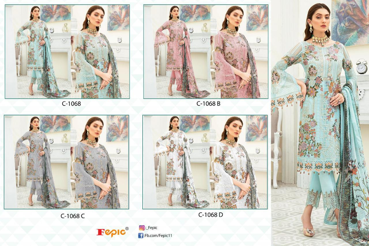 Fepic Rosemeen Dynamic Designer Georgette With Heavy Embroidery Handwork Pakistani Dress Material At Wholesale Rate