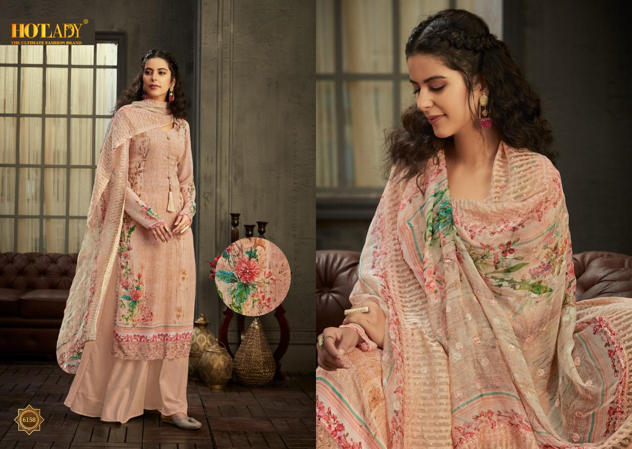 Hotlady Shamisha Designer Printed Georgette With Work Dress Material Collection At Wholesale Rate
