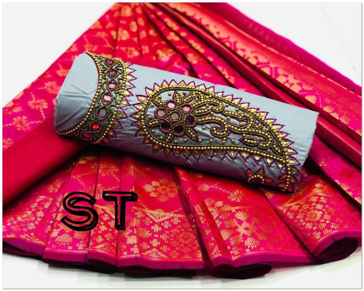 Latest Non Catalog Cotton With Handwork Dress Material At Wholesale Rate