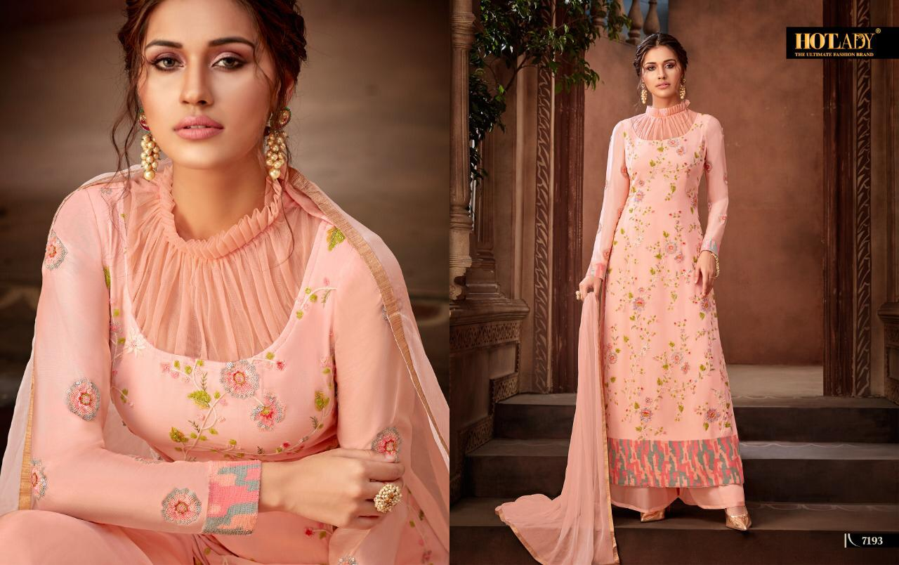 Hotlady Alankaar Viscose Georgette With Heavy Embroidery Work Salwar Kameez At Wholesale Rate