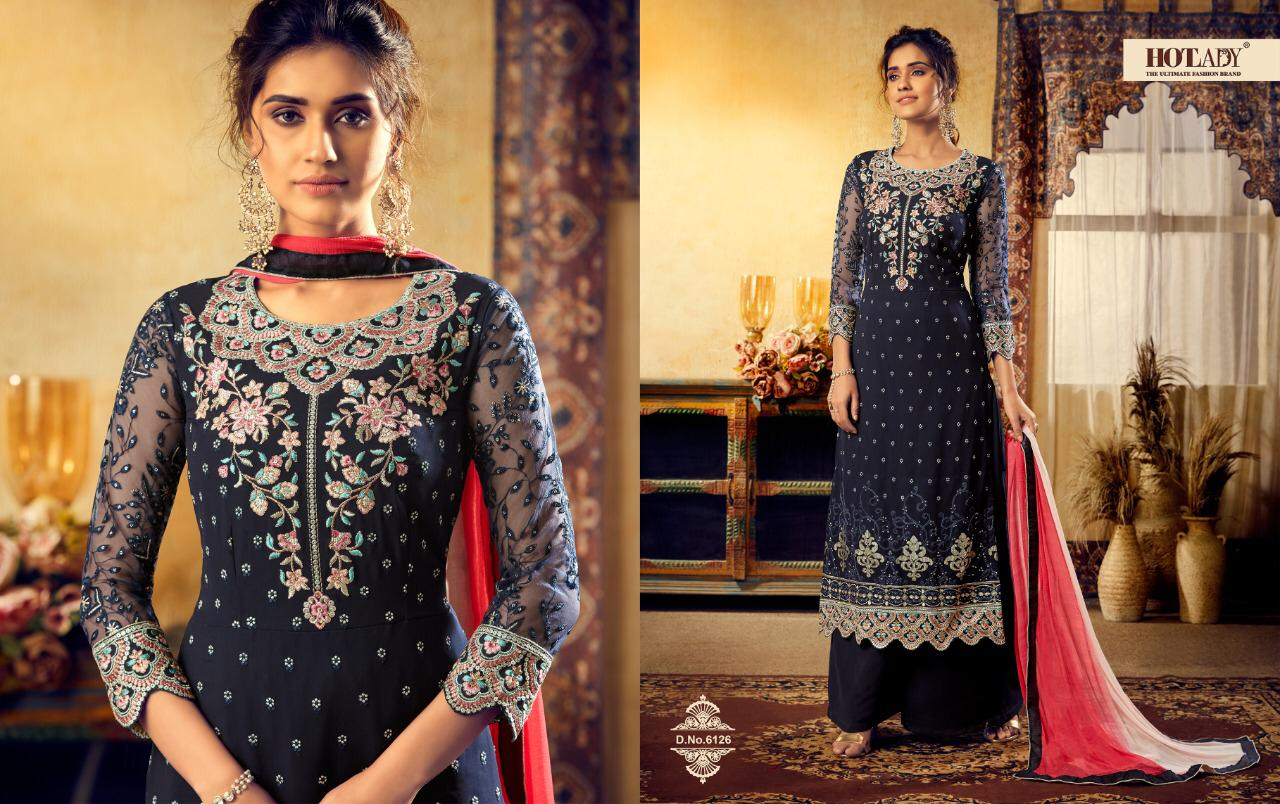 Hotlady Mishti 2nd Edition Viscose Georgette With Embroidery Work Straight Dress Material At Wholesale Rate