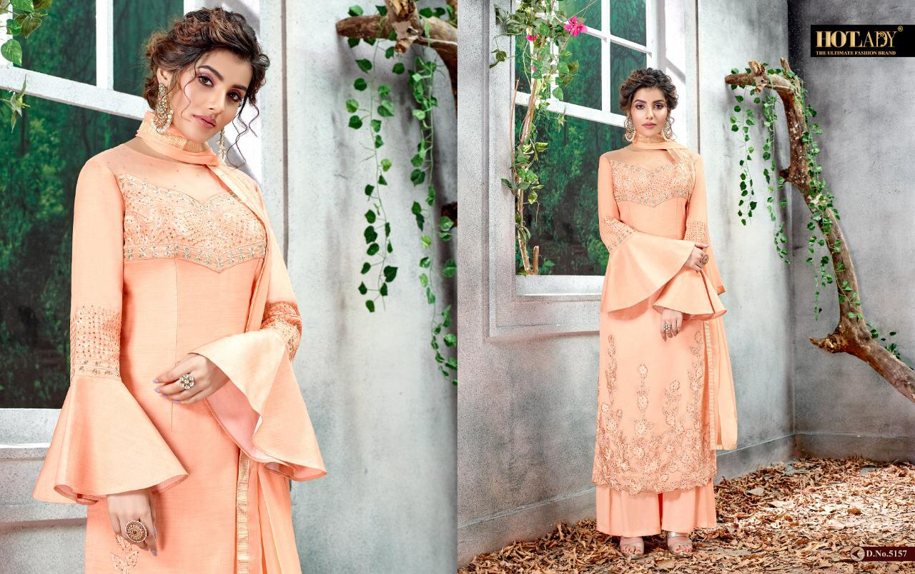 Hotlady Arshiya Designer Heavy Net And Silk With Embroidery Work Suits At Wholesale Rate