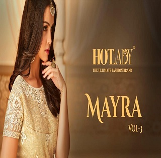 Hotlady Mayra Vol 3 Net And Georgette With Heavy Embroidery Work Salwar Kameez At Wholesale Rate