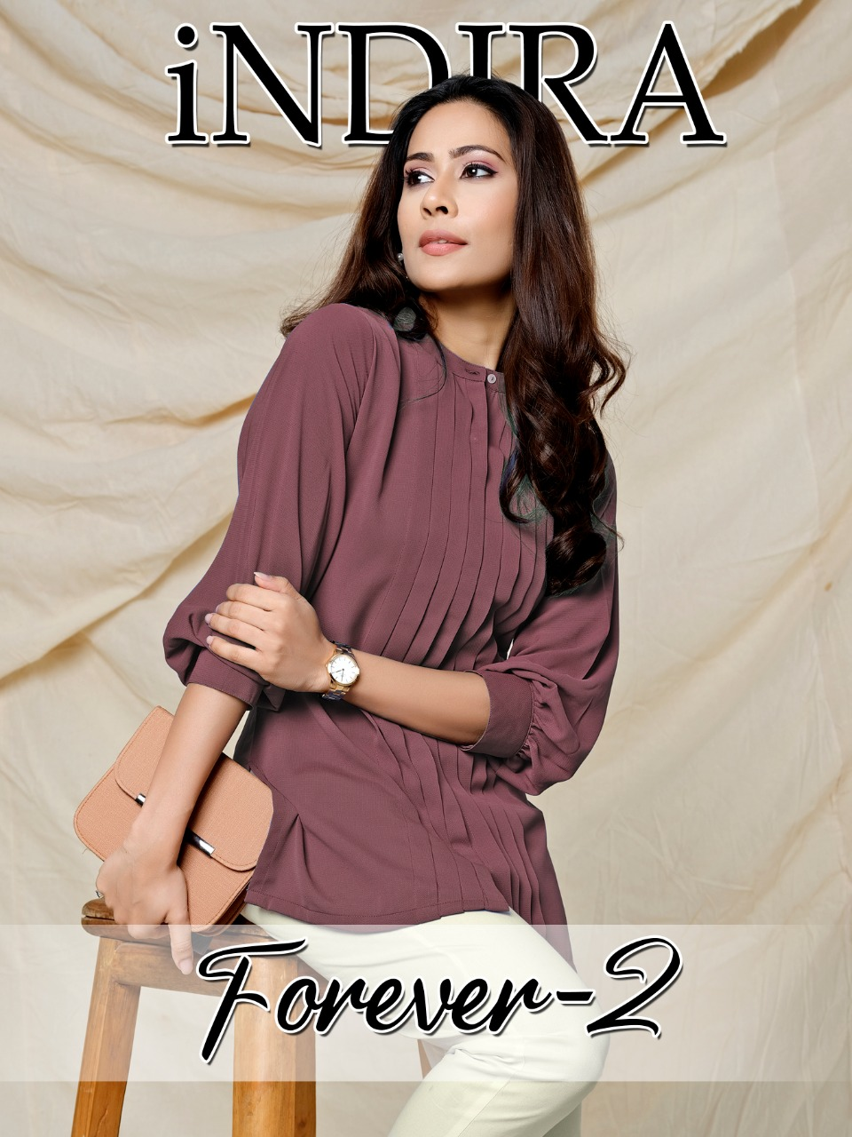 Indira Forever Vol 2 Soft Viscose Georgette Wrinkle Free Readymade Tops With Bottom At Wholesale Rate