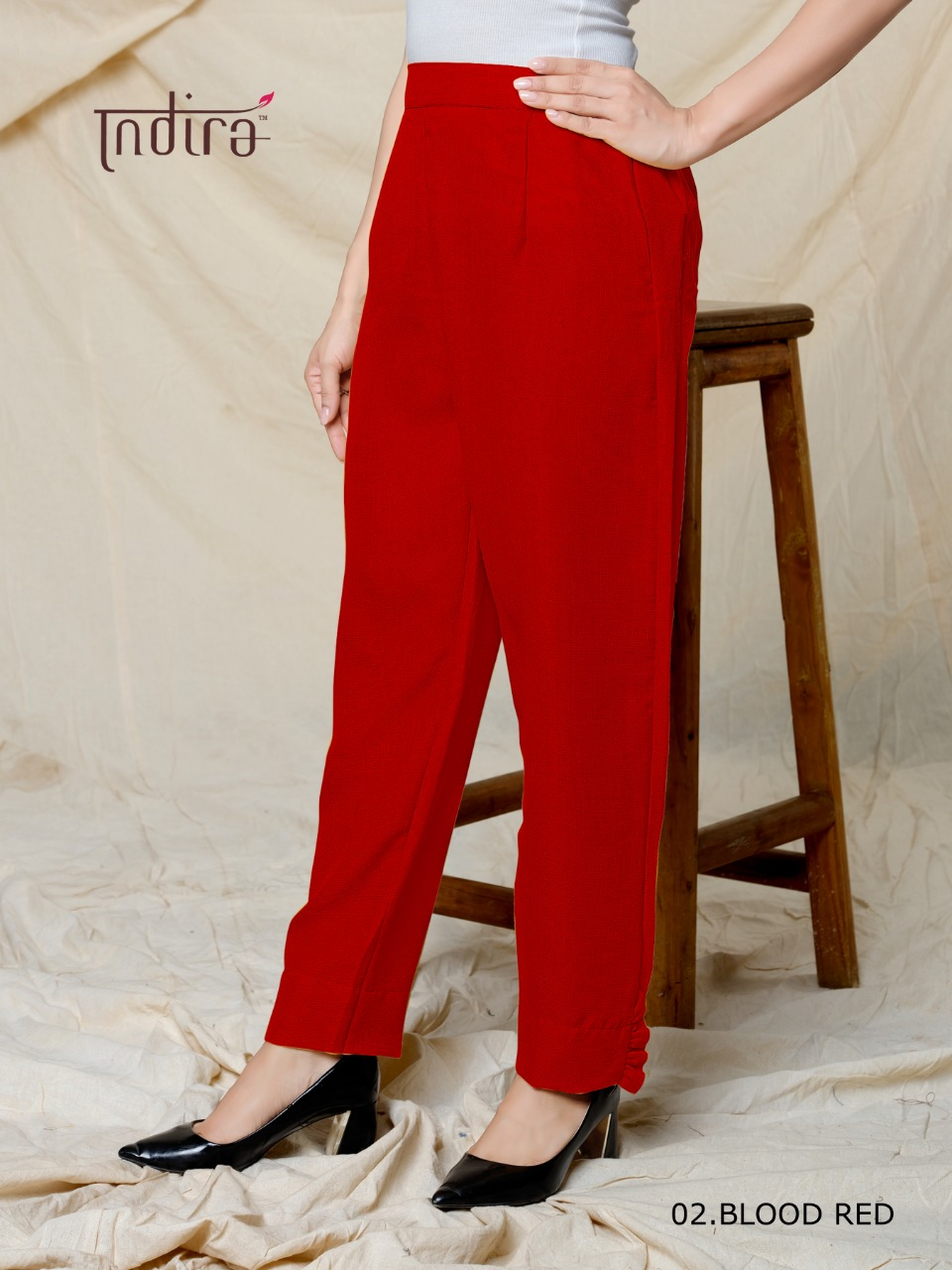 Indira Apparel's Indira Linen Pants Polyester Linen Readymade Pants At Wholesale Rate