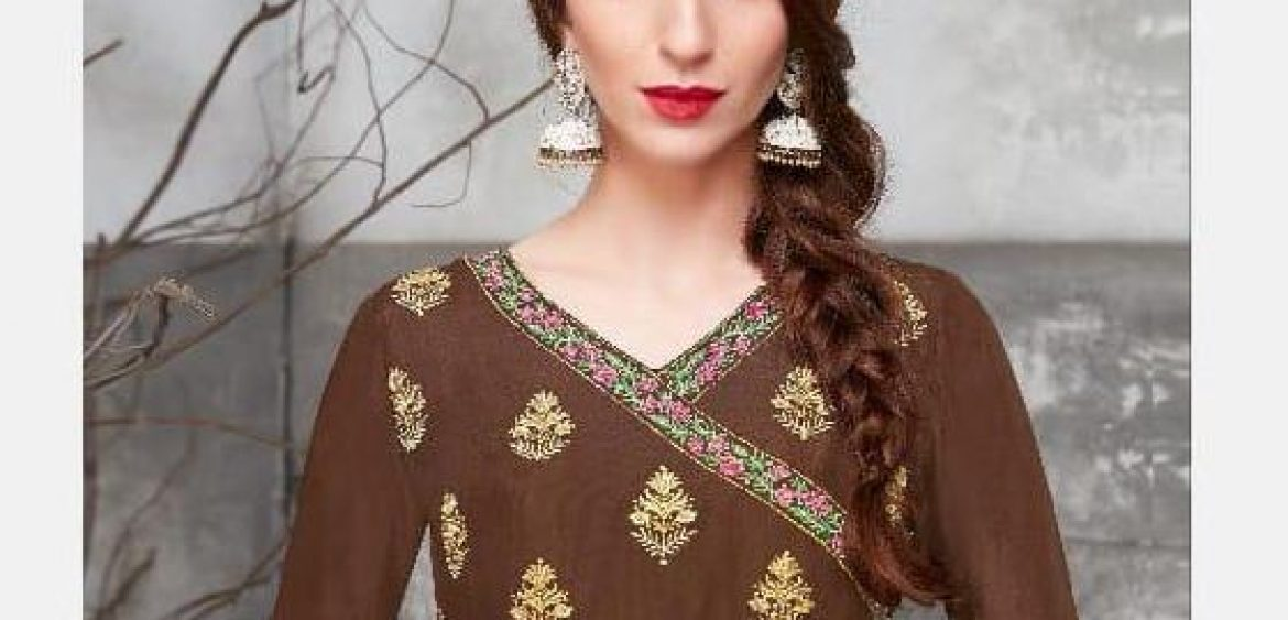 805a6a0fa6 Jinaam Dresses Floral Cora Designer Dyed Polyester Upada Silk with  Embroidery Work Salwar Kameez at Wholesale Rate