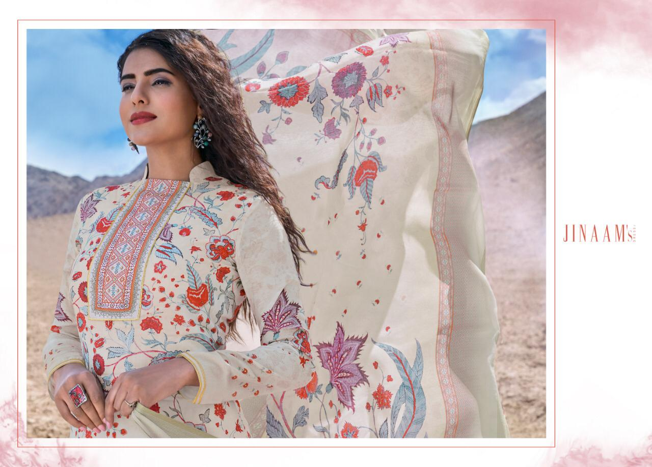 Jinaam's Dress Zahra Digital Printed Cotton Silk Dress Material Collection At Wholesale Rate