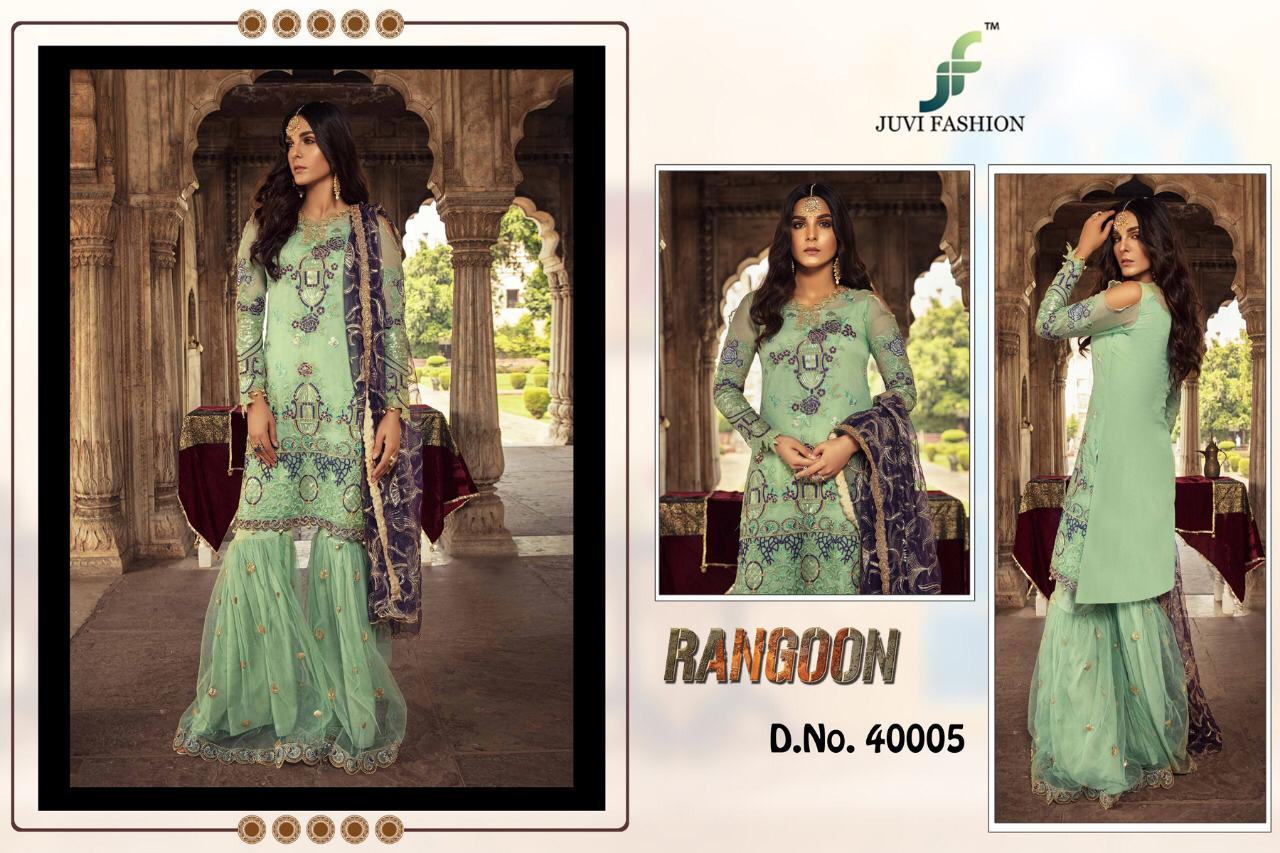 Juvi Fashion Rangoon Faux Georgette With Heavy Embroidery Work Pakistani Suits Collection