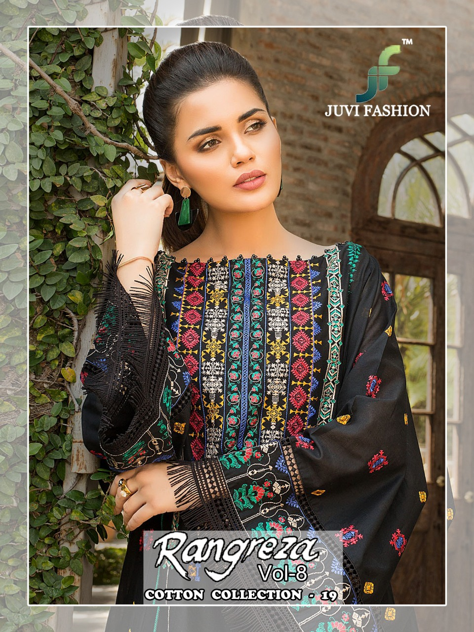 Juvi Fashion Rangreza Vol 8 Cambric Cotton With Self Embroidery Pakistani Dress Material At Wholesale Rate