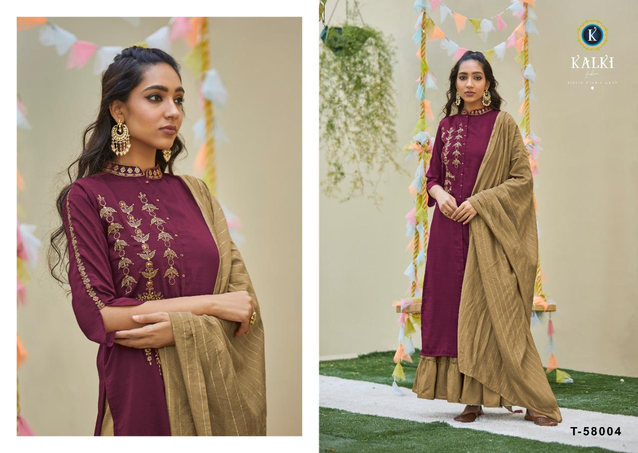 Kalki Fashion Antra Vol 2 Pure Weaving Chinon Silk With Work Readymade Suits Collection At Wholesale Rate