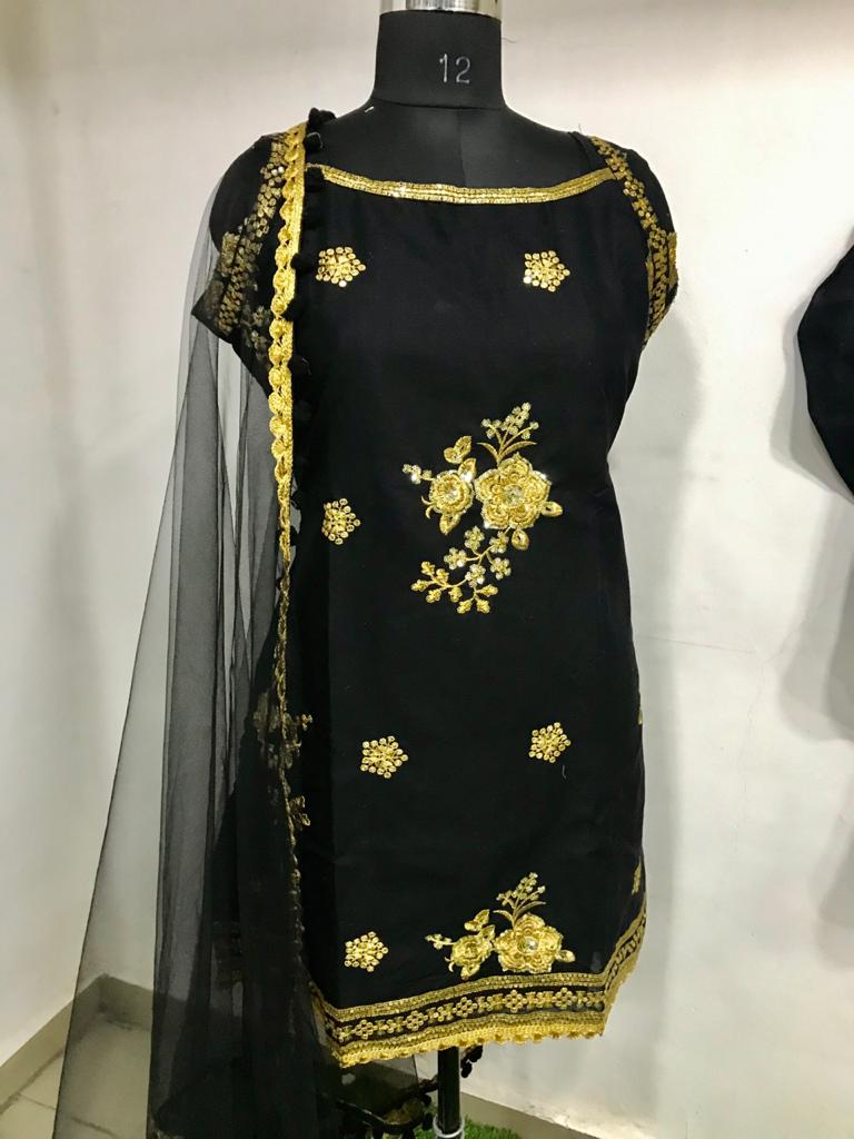 Kt 146 Cotton With Work Dress Material At Wholesale Rate