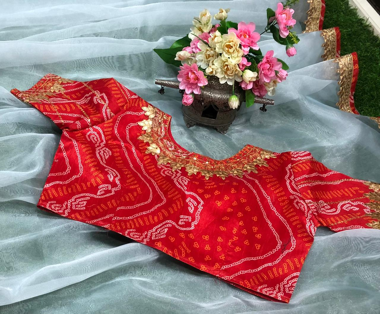 Kt 209 Organza Silk With Paper Mirror Work Lace Border Sarees Collection At Wholesale Rate