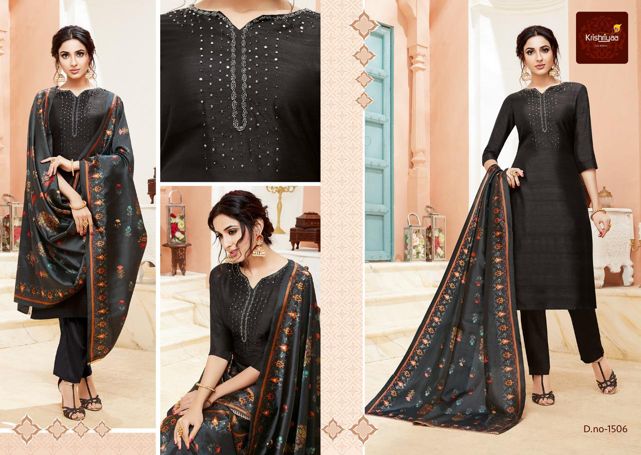 Krishriyaa Fashions Purity Designer Two Tone Silk Readymade Top With Bottom And Dupatta At Wholesale Rate