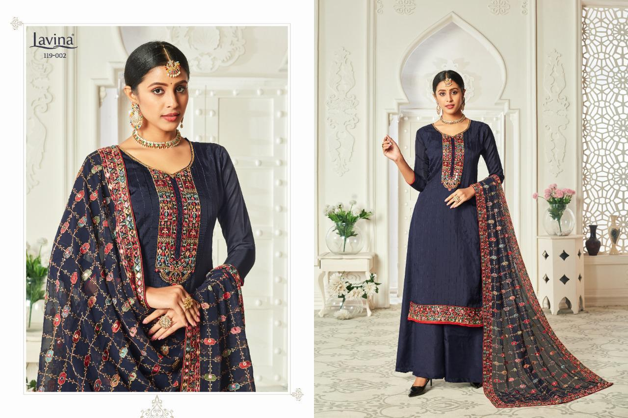 Lavina Vol 119 Pure Upada Silk With Embroidery Work Dress Material At Wholesale Rate