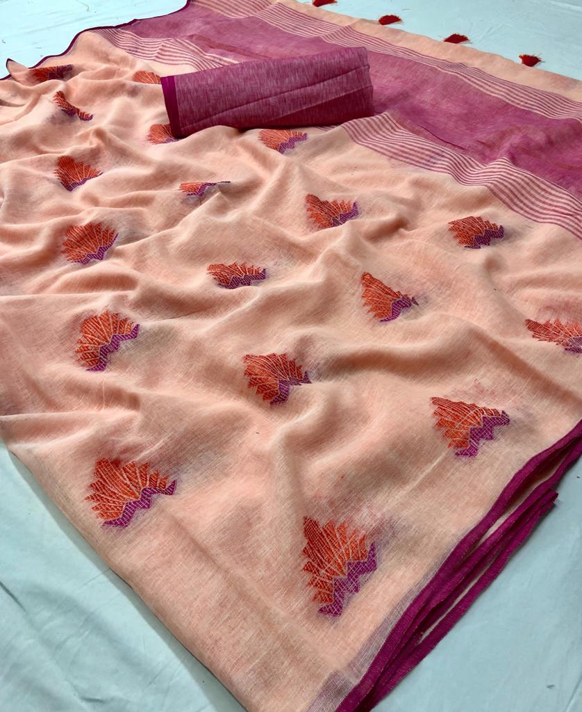 Lt Fabrics Sandhya Linen Tissue Sarees Collection At Wholesale Rate