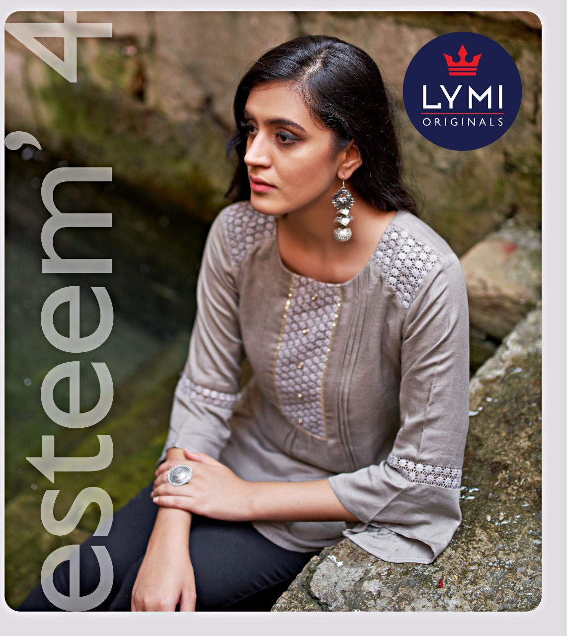 Kessi Fabrics Lymi Esteem Vol 4 Rayon Flex With Schiffli Work Readymade Short Kurti Tops At Wholesale Rate