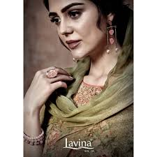 Lavina Suits Lavina Vol 39 Georgette Printed With Sequence Embroidery Dress Material At Wholesale Rate