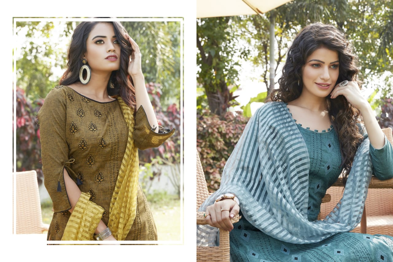 Libaas Kohinoor Cotton Printed Palazzo Style Formal Wear Dress Material At Wholesale Rate
