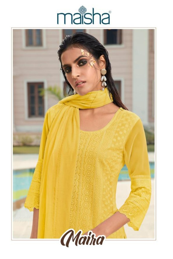Maisha Maira Heavy Georgette With Lucknowi Work Readymade Salwar Kameez At Wholesale Rate